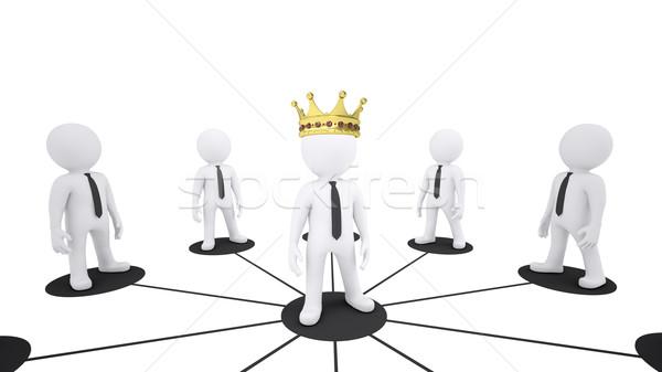набор белый марионеточного люди центр корона Сток-фото © cherezoff