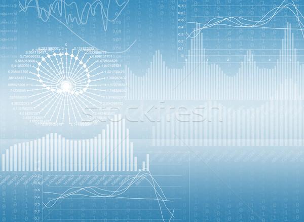 Stockfoto: Abstract · Blauw · matrix · verschillend · grafieken · achtergrond