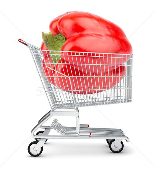 Bell pepper in shopping cart Stock photo © cherezoff