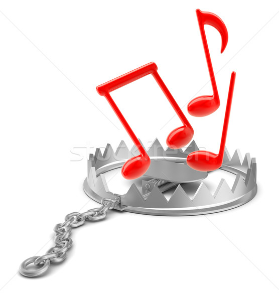 Music notes in bear trap Stock photo © cherezoff