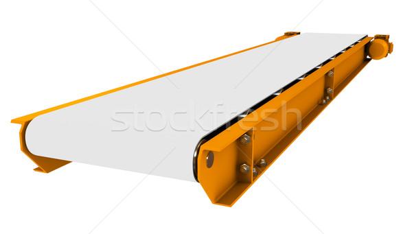 Conveyor on white Stock photo © cherezoff