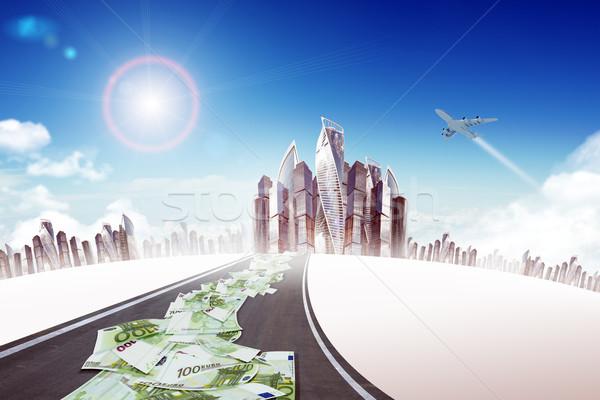 шоссе дороги город наличных Jet бизнеса Сток-фото © cherezoff