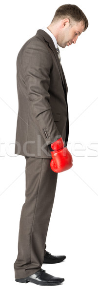 Sad businessman in boxing gloves  Stock photo © cherezoff