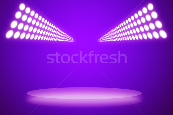 Magenta interieur projector show abstract ontwerp Stockfoto © cherezoff