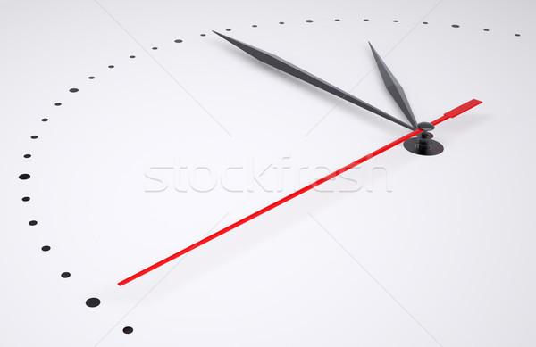 Reloj números aislado gris 3d negocios Foto stock © cherezoff