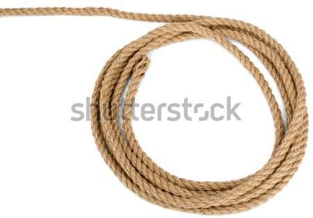 Rope loop isolated on white background Stock photo © cherezoff