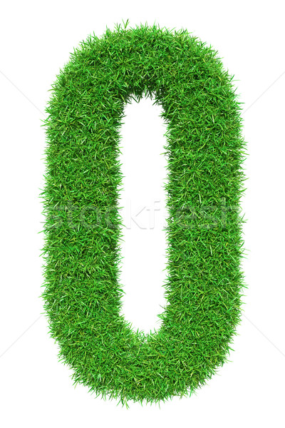 Green grass number 0 Stock photo © cherezoff