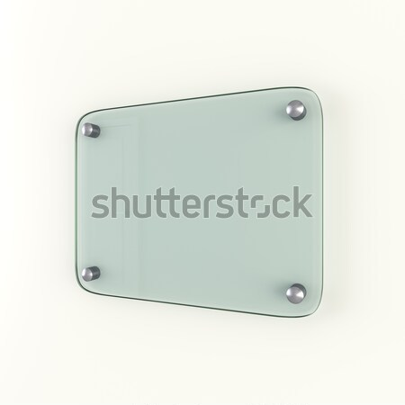 Glass plate mockup. Empty space for your content Stock photo © cherezoff
