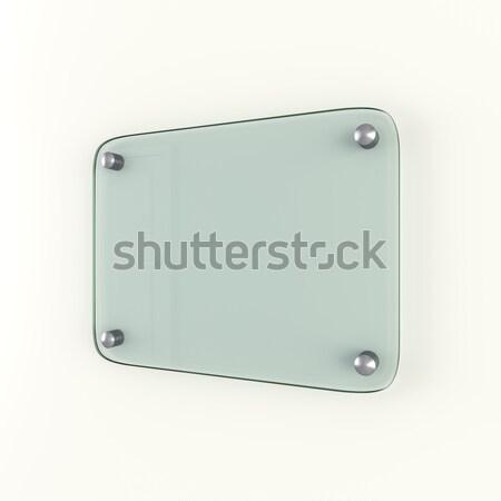 Cam plaka içerik 3D Stok fotoğraf © cherezoff