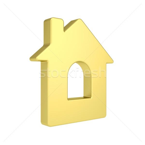 золото дома икона изолированный оказывать белый Сток-фото © cherezoff