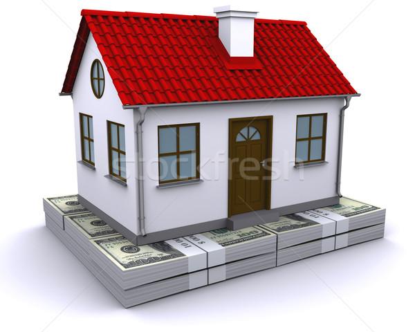 home bundles of dollars Stock photo © cherezoff