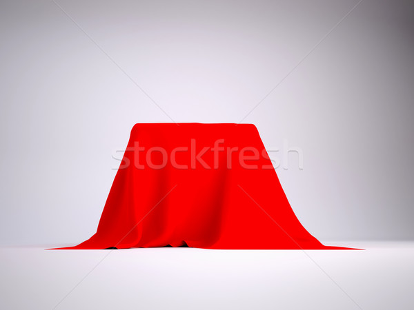 Box covered with red cloth Stock photo © cherezoff