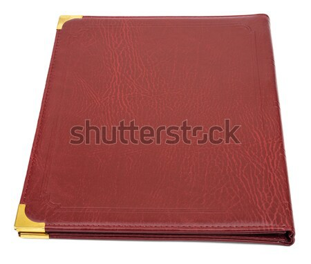 Brown leather folder Stock photo © cherezoff