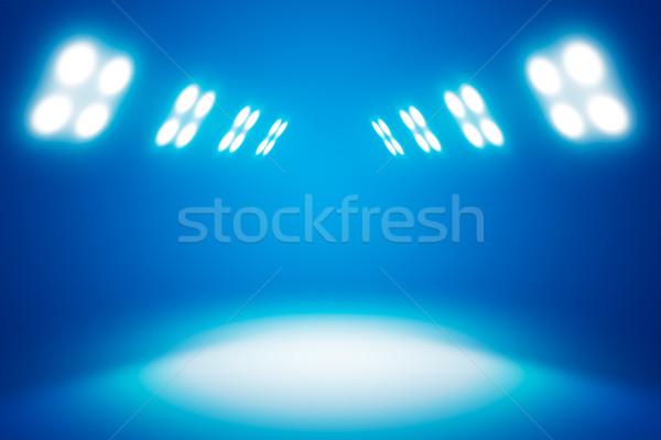 Blu interni proiettore show esposizione stanza Foto d'archivio © cherezoff