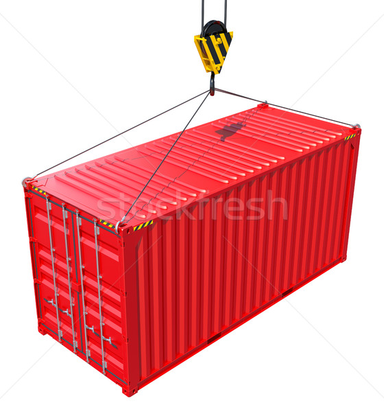 Cargo container hanging hook Stock photo © cherezoff