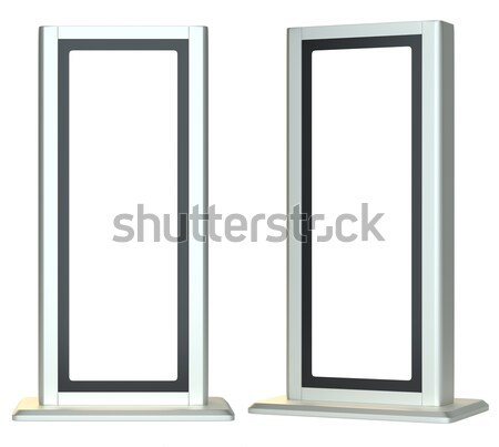 Blank lightboxes or signboards. Isolated Stock photo © cherezoff