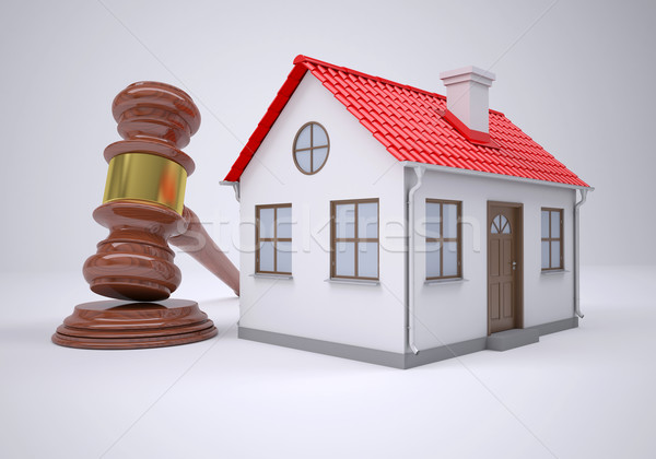 Gavel and small house Stock photo © cherezoff