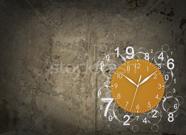 Clock face with figures Stock photo © cherezoff