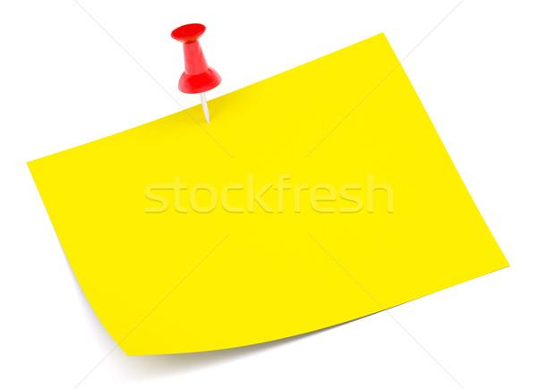 Sticker fasten with pin Stock photo © cherezoff