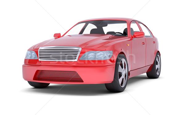 Red car image Stock photo © cherezoff
