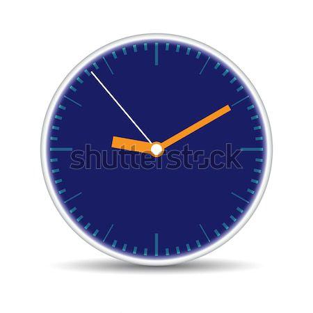 Round clock with blue clock-face Stock photo © cherezoff