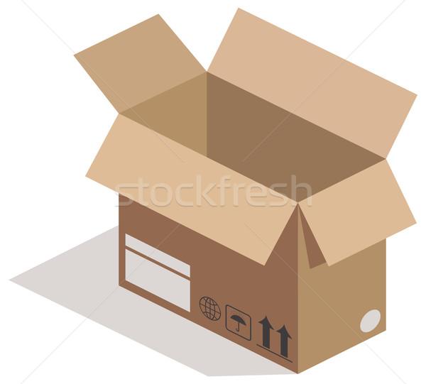 Open carton box Stock photo © cherezoff