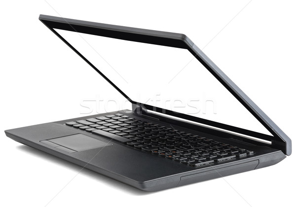 Preto laptop branco abrir vazio tela Foto stock © cherezoff