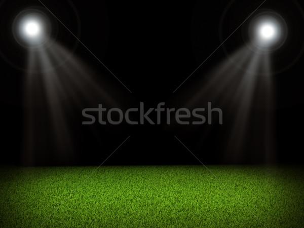 Futballpálya fényes fények sport futball mező Stock fotó © cherezoff