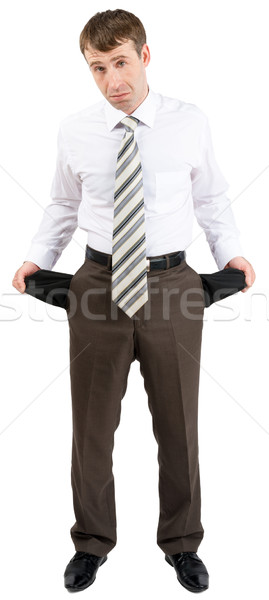 Businessman turned out his pockets Stock photo © cherezoff