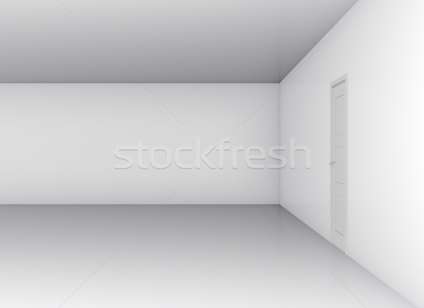 Classical closed door in white office wall Stock photo © cherezoff