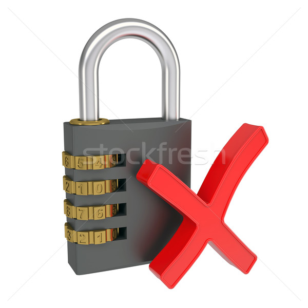 Combination lock and the sign ban Stock photo © cherezoff