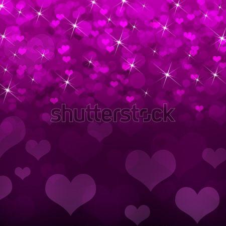 抽象的な マゼンタ 心 バレンタインデー 壁 壁紙 ストックフォト © cherezoff