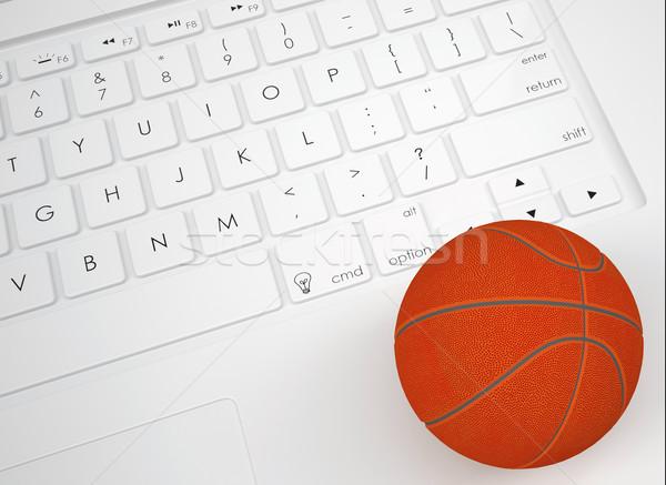 Basket ball on the keyboard Stock photo © cherezoff