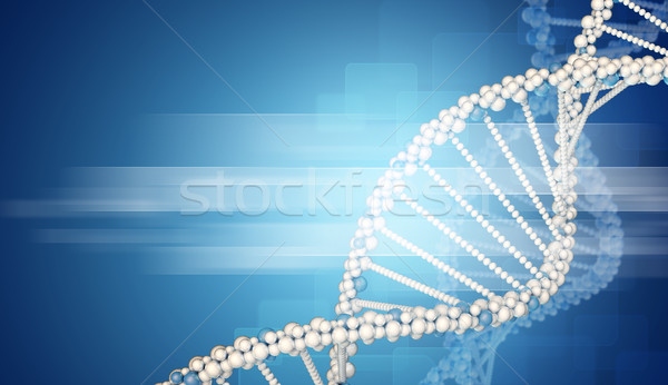 DNA model with blured rectangles Stock photo © cherezoff