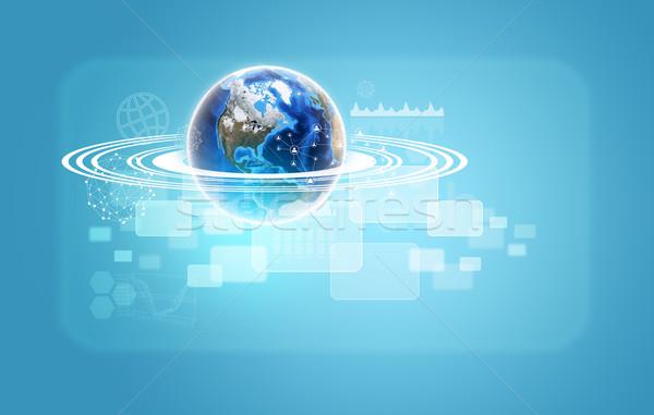 Toprak şeffaf grafikler ağ görüntü Stok fotoğraf © cherezoff