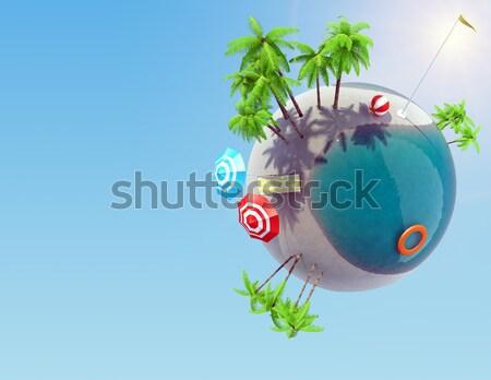 Föld tengerpart reflektor űr elemek kép Stock fotó © cherezoff