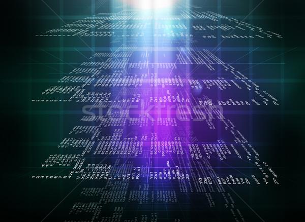 Binary colorful computer code Stock photo © cherezoff