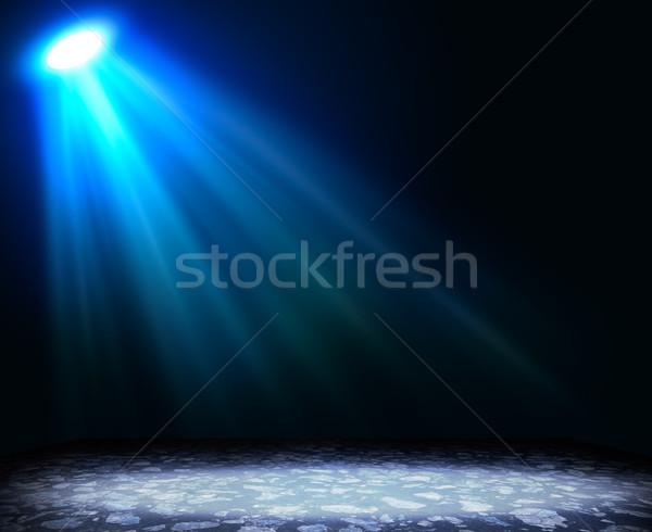 Soyut açık mavi zemin şablon dizayn Stok fotoğraf © cherezoff