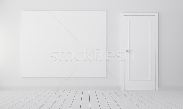 Room with closed door and empty place Stock photo © cherezoff