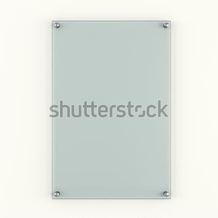 Transparent blank glass plate Stock photo © cherezoff