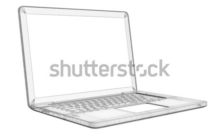 Laptop. Wire frame Stock photo © cherezoff