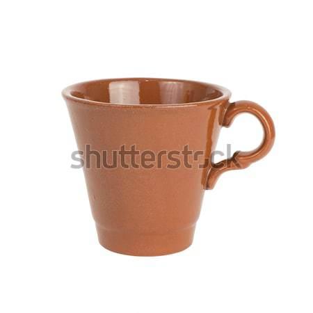 Keramik Tasse Griff isoliert weiß Stock foto © cherezoff