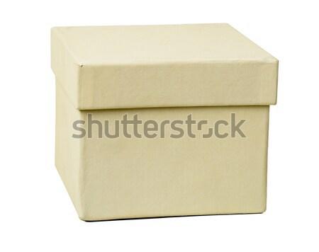 White box, closeup Stock photo © cherezoff