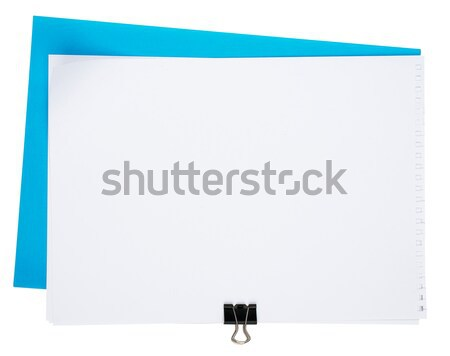 Piece of paper with clip Stock photo © cherezoff