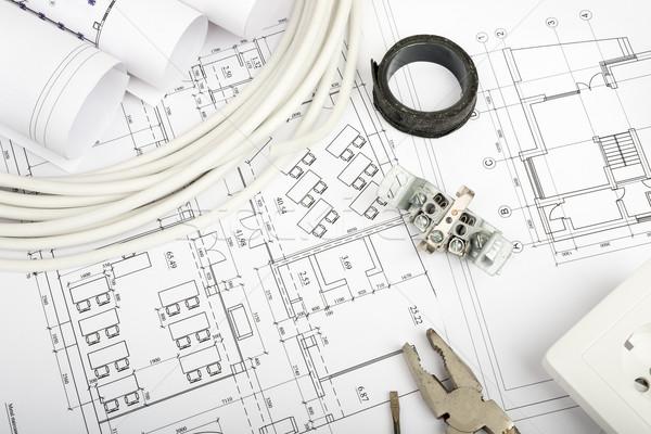 Photo stock: Architecture · plan · blueprints · plug · bâtiment