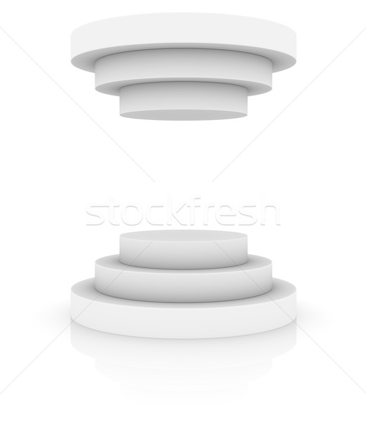 Round stage podium or pedestal with cover Stock photo © cherezoff
