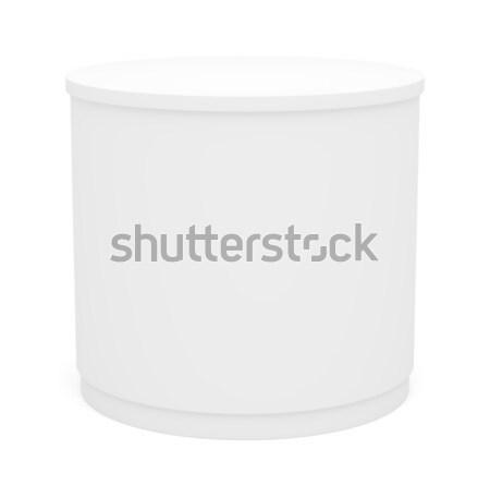 Biały poi cylinder odizolowany 3d ilustracji projektu Zdjęcia stock © cherezoff