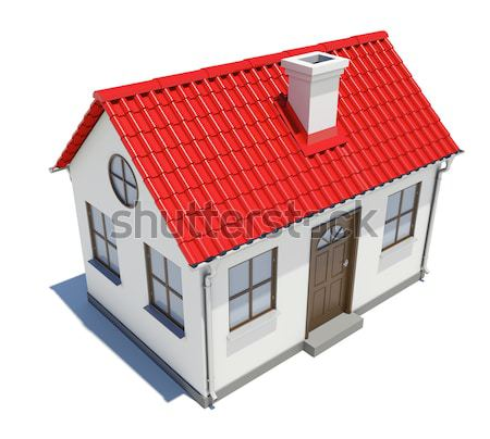 Small house with red roof Stock photo © cherezoff