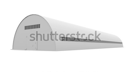 Сток-фото: промышленных · здании · изолированный · оказывать · белый · бизнеса