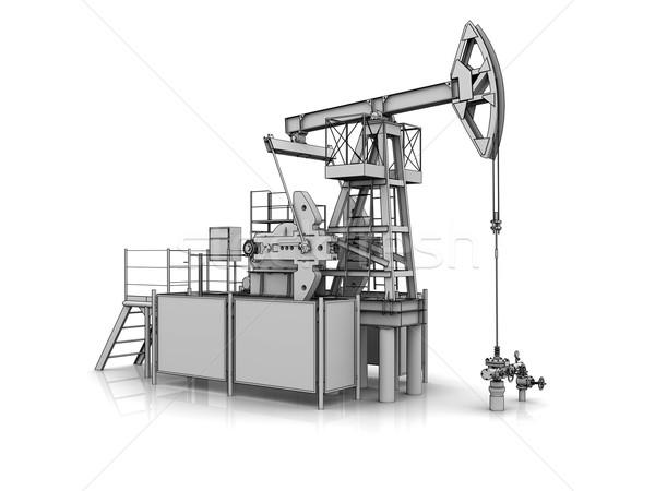 3D model of the oil pump jack Stock photo © cherezoff